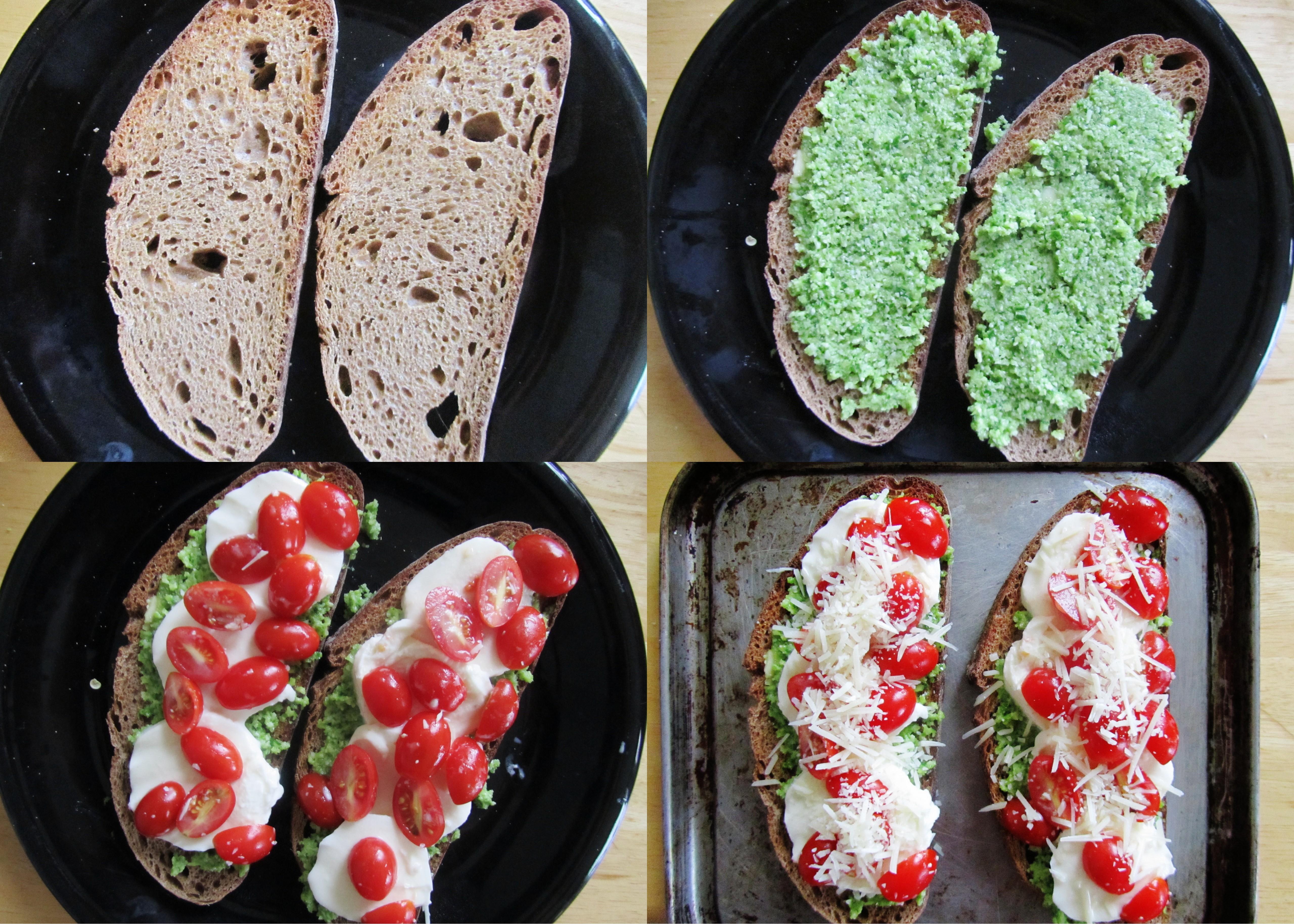 garlic scape pesto + pesto pizza sandwich | the sprout diaries